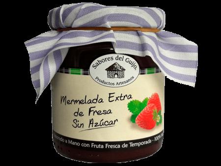 Mermelada Extra Artesana 100% Natural de Fresa Sin Azúcar Sabores del Guijo Casa Alonso